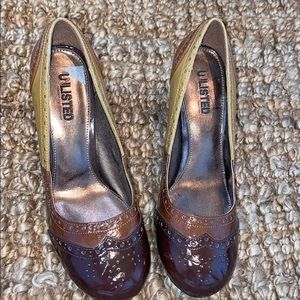 Unlisted 3 tone brown heels 8.5 new without box
